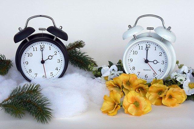 časový posun na hodinách