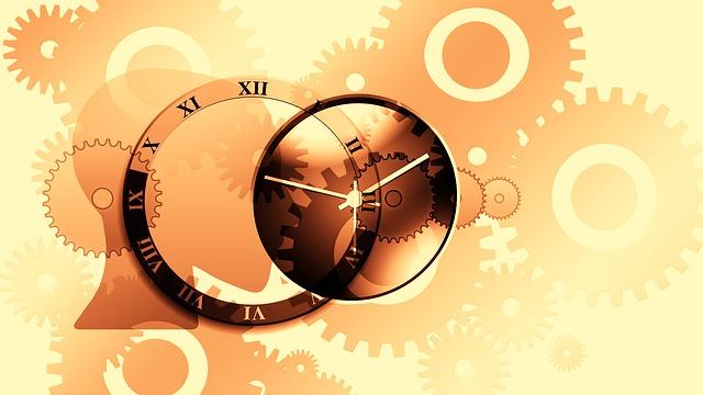 hodiny a ozubená kolečka
