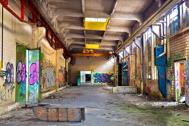 grafiti na zdech