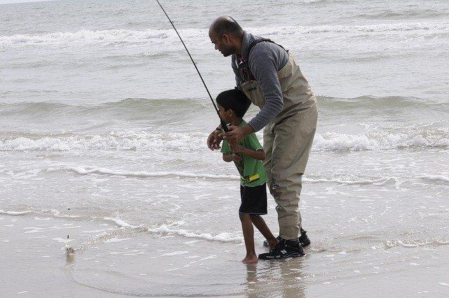 rybaření se synem