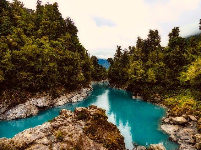 nový zéland řeka