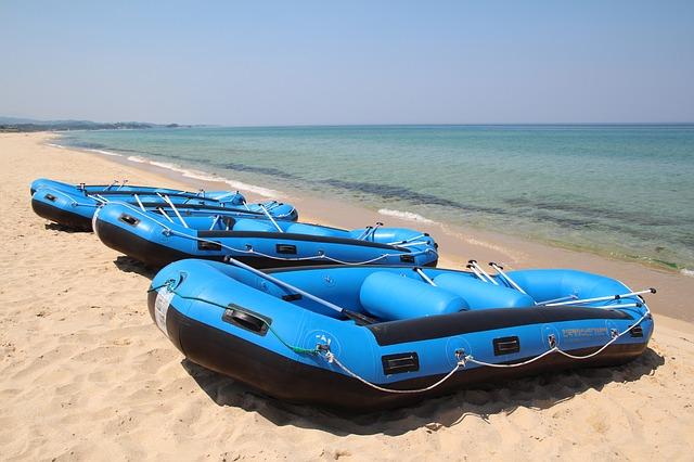 nafukovací čluny modré