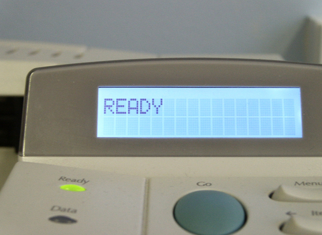 tiskárna připravena