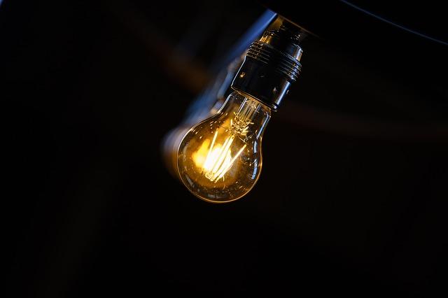 rozsvícená LED žárovka