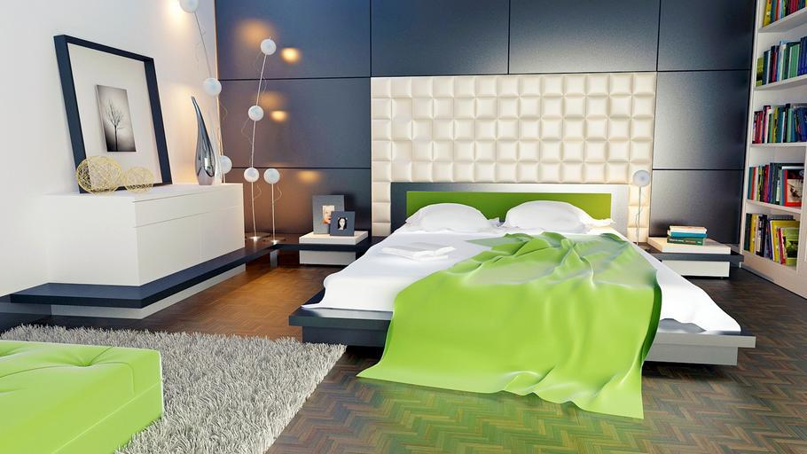 podlaha v ložnici - dekorativní