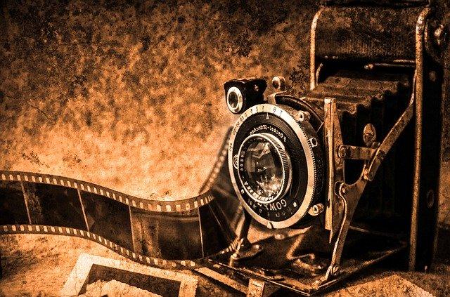retro fotoaparát