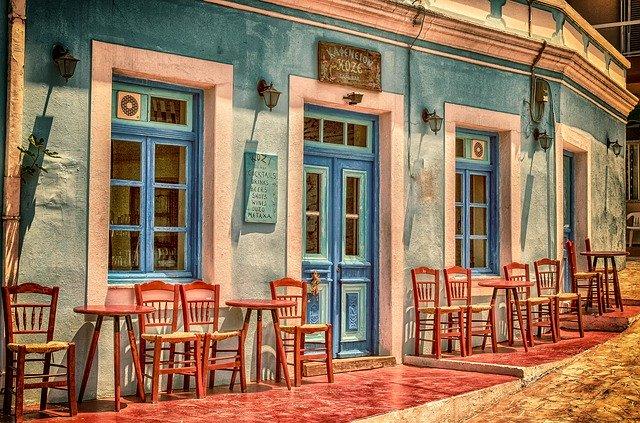 tradiční restaurace zvenku